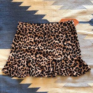 Leopard print short skirt